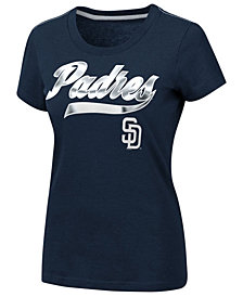 G-III Sports Women's San Diego Padres Script Foil T-Shirt