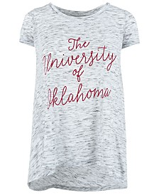 Royce Apparel Inc Women's Oklahoma Sooners Script Viscose Crew T-Shirt