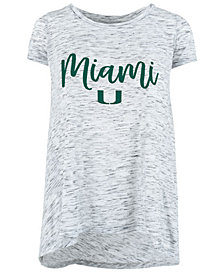 Royce Apparel Inc Women's Miami Hurricanes Ash Script Crew T-Shirt