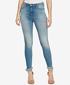 WILLIAM RAST Super-Skinny High-Rise Frayed-Cuff Jeans
