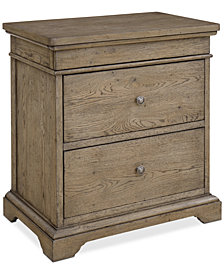 Martha Stewart Collection Bergen 3-Drawer Nightstand, Created for Macy's