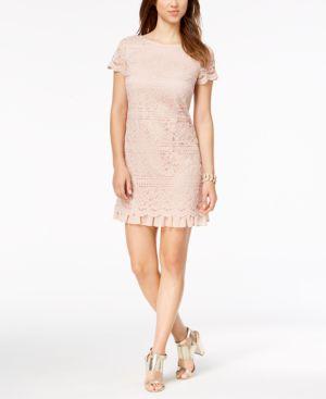 Vince Camuto Lace Ruffled-Hem Dress 5707468