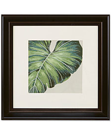 "Harbor House Tropical Leaf 20"" x 20"" Decorative Embroidered Botanical Wall Art"