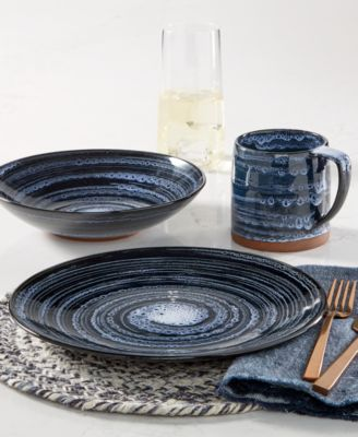 Blue Wash Dinner Bowl, Created for Macy's