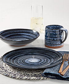 Lucky Brand Blue Wash Dinnerware Collection, Created for Macy's
