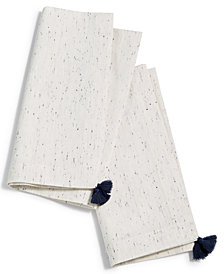 Lucky Brand Ivory Tassel Napkins, Set of 2, Created for Macy's