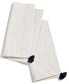 CLOSEOUT! Lucky Brand Ivory Tassel Napkins, Set of 2, Created for Macy's
