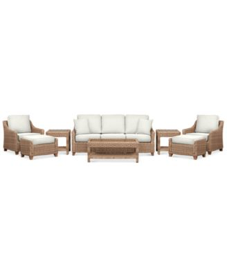 Willough Outdoor 8-Pc. Set (1 Sofa, 2 Club Chairs, 1 Coffee Table, 2 Ottomans & 2 End Tables), Created for Macy's