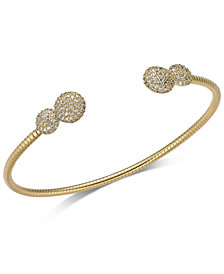 Danori 18k Gold-Plated Pavé Cuff Bracelet, Created for Macy's