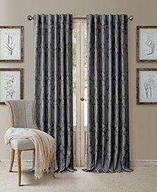 "Elrene Darla 52"" x 95"" Ironwork Blackout Rod Pocket/Back-Tab Curtain Panel"