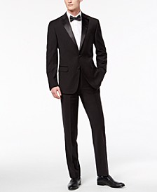 Men's X-Fit Slim-Fit Infinite Stretch Black Tuxedo Suit Separates