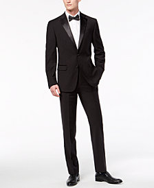 Calvin Klein Men's X-Fit Slim-Fit Infinite Stretch Black Tuxedo Suit Separates