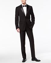 c5549770f82 Calvin Klein Men s X-Fit Infinite Stretch Black Tuxedo Suit Separates