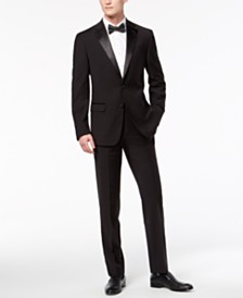 Calvin Klein Men's X-Fit Infinite Stretch Black Tuxedo Suit Separates