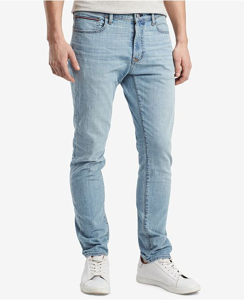 35c68173 ... Tommy Hilfiger Tommy Hilfiger Men's Slim-Fit Stretch Tapered Denim Jeans,  Created for Macy's ...