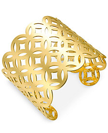 I.N.C. Gold-Tone Lattice Cuff Bracelet, Created for Macy's