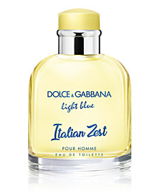 DOLCE&GABBANA Men's Light Blue Italian Zest Pour Homme Eau de Toilette Spray, 4.2-oz.