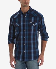 Wrangler Men's Western Long Sleeve Plaid Shirt