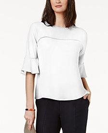 Nine West Seamed 3/4-Sleeve Blouse