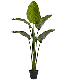 "Nearly Natural 63"" Travellers Palm UV-Resistant Indoor/Outdoor Tree"