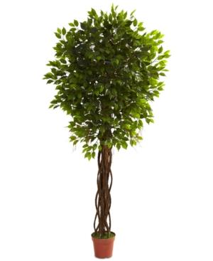 Nearly Natural 75 Ficus UvResistant IndoorOutdoor Tree
