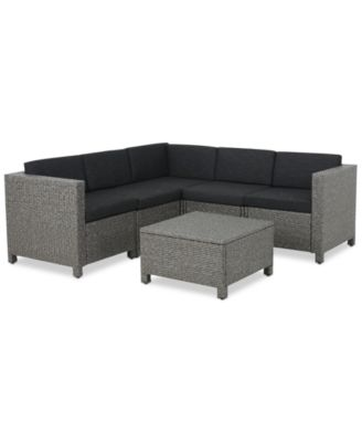 Chelsea 6 Pc. Outdoor Sectional Sofa Set, Quick Ship