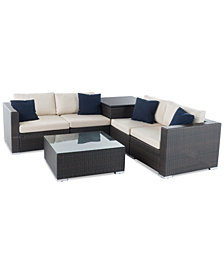 Cambridge Outdoor 6-Pc. Sofa Set, Quick Ship