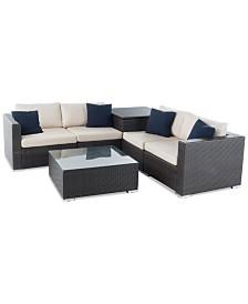 Cambridge Outdoor 6-Pc. Sofa Set, Quick Ship
