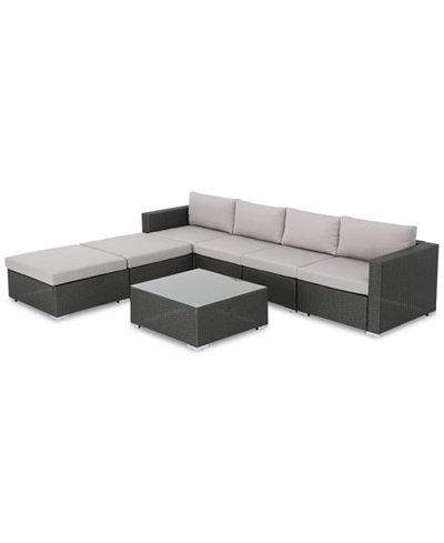 Westlake Outdoor 7-Pc. Sectional Set, Quick Ship