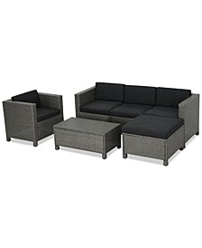 Seaside 6-Pc. Outdoor Sofa Set, Quick Ship