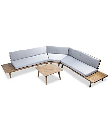 Opus Outdoor 4-Pc. Sectional Sofa Set, Quick Ship
