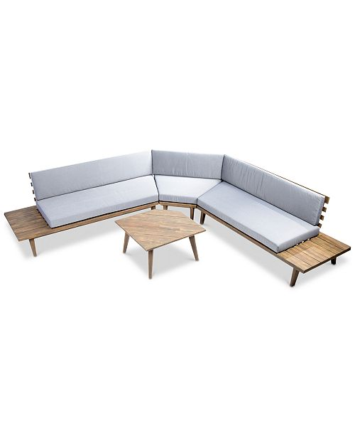 Furniture Opus Outdoor 4-Pc. Sectional Sofa Set, Quick Ship ...