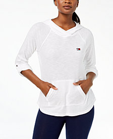 Tommy Hilfiger Hooded Thermal-Knit Sweatshirt, Created for Macy's
