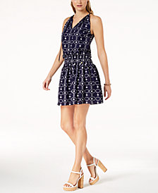 MICHAEL Michael Kors Embroidered Halter Dress, Regular & Petite, Created for Macy's