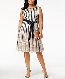 SL Fashions Plus Size Lace Fit & Flare Dress