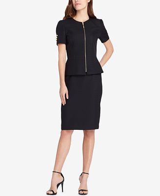 Tahari Asl Peplum Skirt Suit Wear To Work Women Macy S