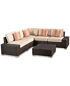 Hayden Outdoor 6-Pc. Sectional Set, Quick Ship