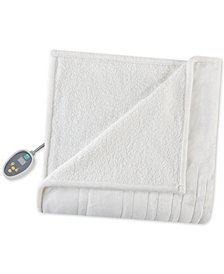 True North by Sleep Philosophy Ultra Soft Reversible Berber/Plush Heated King Blanket with Bonus Automatic Timer