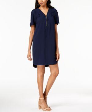 Trina Turk Zipper-Trim Shirtdress 6038142