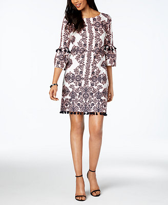 Printed Tassel Detail Dress by Vince Camuto