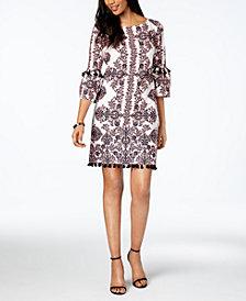 Vince Camuto Printed Tassel-Detail Dress