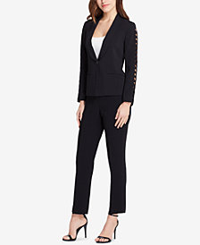 Tahari ASL Scalloped-Sleeve Pantsuit, Regular & Petite