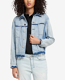 DKNY Frayed Denim Jacket, Created for Macy's