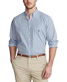 Polo Ralph Lauren Men's Big & Tall Striped Standard Fit Shirt