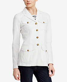 Lauren Ralph Lauren Denim Military-Inspired Jacket