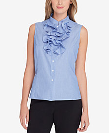 Tahari ASL Ruffled Blouse