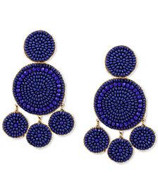 Lucky Brand Gold-Tone Beaded Drop Earrings