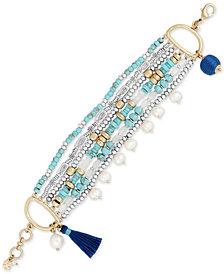 Lucky Brand Two-Tone Multi-Bead Layered Bracelet