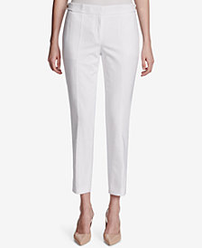Calvin Klein Straight-Leg Ankle Pants, Regular & Petite