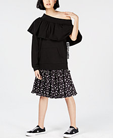 NICOPANDA Off-The-Shoulder Sweatshirt, Created for Macy's